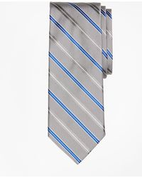 Brooks Brothers - Alternating Split Double Stripe Tie - Lyst