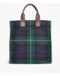 Brooks Brothers - Black Watch Plaid Wool Tote Bag - Lyst