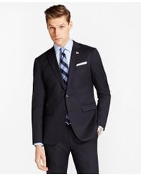 Brooks Brothers - Milano Fit Stretch Wool Two-button 1818 Suit - Lyst