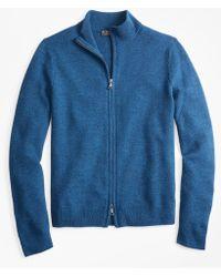 Brooks Brothers - Honeycomb Stitch Full-zip Cardigan - Lyst