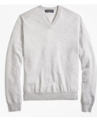 Brooks Brothers - Silk And Cashmere V-neck Sweater - Lyst