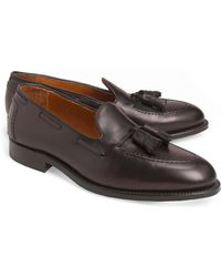 8e7b599d84a Lyst - Brooks Brothers Hand Sewn Penny Loafer in Black for Men