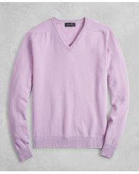 Brooks Brothers - Golden Fleece® 3-d Knit Cashmere V-neck Sweater - Lyst