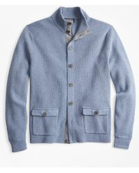 Brooks Brothers - Mockneck Button-front Cardigan - Lyst