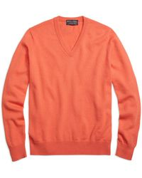 Brooks Brothers | Cashmere V-neck Sweater | Lyst