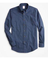Brooks Brothers - Madison Fit Glen Plaid Flannel Sport Shirt - Lyst