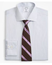 Brooks Brothers - Regent Fitted Dress Shirt, Non-iron Hairline Framed Stripe - Lyst