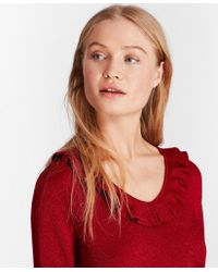 Brooks Brothers - Ruffle-trimmed Sparkle-knit Sweater - Lyst