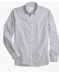 Brooks Brothers - Nine-to-nine Windowpane Plaid Shirt - Lyst