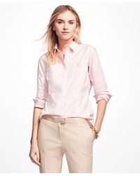 Brooks Brothers - Petite Non-iron Tailored-fit Supima® Cotton Dress Shirt - Lyst