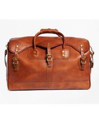 Brooks Brothers - J.w. Hulme Leather Small Duffel Bag - Lyst