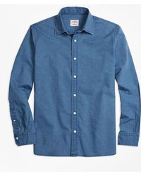 Brooks Brothers | Chambray Sport Shirt | Lyst