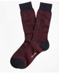 Brooks Brothers - Glen Plaid Crew Socks - Lyst