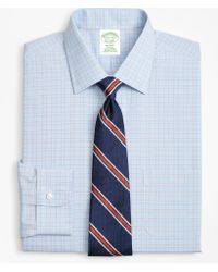 Brooks Brothers - Milano Slim-fit Dress Shirt, Non-iron Plaid Framed Overcheck - Lyst