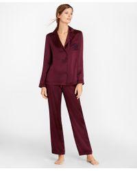 Brooks Brothers - Silk-satin Pyjama Set - Lyst