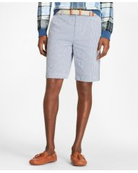 Brooks Brothers - Gingham Seersucker Bermuda Shorts - Lyst