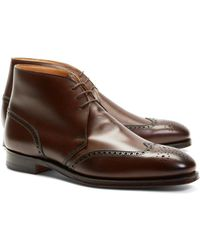 Brooks Brothers - Peal & Co.® Leather Wingtip Boots - Lyst