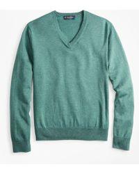 Brooks Brothers - Supima Cotton V-neck Sweater - Lyst