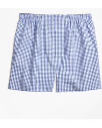 Brooks Brothers - Traditional Fit Mini-split Check Boxers - Lyst