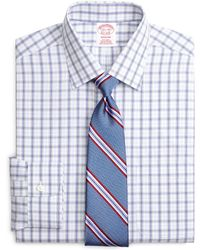 Brooks Brothers - Milano Slim-fit Dress Shirt, Non-iron Twin Plaid - Lyst
