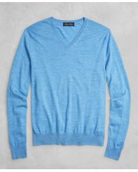 Brooks Brothers - Golden Fleece® 3-d Knit Fine-gauge Merino V-neck Jumper - Lyst