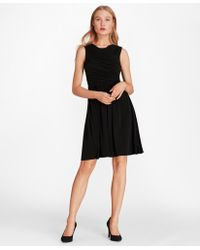 Brooks Brothers - Ruched Jersey Dress - Lyst