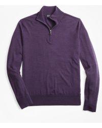 Brooks Brothers - Brookstech Merino Wool Textured Half-zip - Lyst