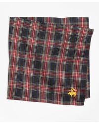 Brooks Brothers - Black Stewart Tartan Pocket Square - Lyst