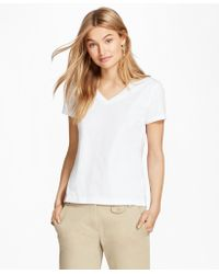 Brooks Brothers - Garment-dyed V-neck T-shirt - Lyst