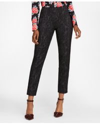 Brooks Brothers - Paisley Jacquard Ankle Trousers - Lyst