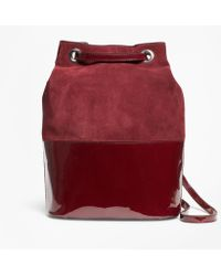 Brooks Brothers - Suede And Patent Leather Bucket Bag - Lyst