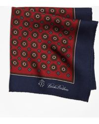 Brooks Brothers - Flower And Medallion Pocket Square - Lyst