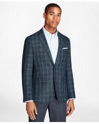 Brooks Brothers - Windowpane Wool Linen Twill Sport Coat - Lyst