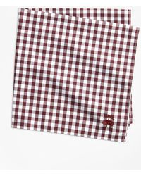 Brooks Brothers - Gingham Pocket Square - Lyst