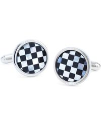 Brooks Brothers | Round Checkerboard Classic Cuff Links | Lyst