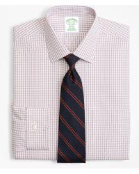 Brooks Brothers - Milano Slim-fit Dress Shirt, Non-iron Framed Windowpane - Lyst