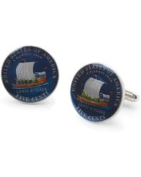 Brooks Brothers | Lewis And Clark Hand Painted Nickel Cuff Links | Lyst