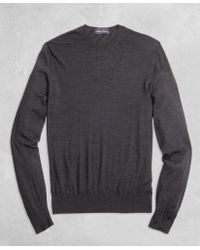 Brooks Brothers - Golden Fleece® 3-d Knit Fine-gauge Merino Crewneck Jumper - Lyst