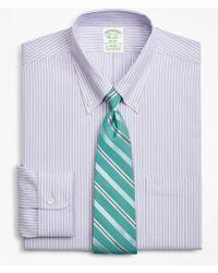 Brooks Brothers - Stretch Milano Slim-fit Dress Shirt, Non-iron Stripe - Lyst