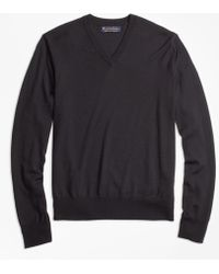 Brooks Brothers - Brookstech Merino Wool V-neck Sweater - Lyst