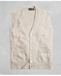 Brooks Brothers - Golden Fleece® 3-d Knit Marled Alpaca-blend Button Vest - Lyst
