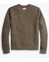 Brooks Brothers - Textured Stripe Crewneck Sweatshirt - Lyst