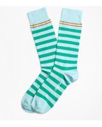 Brooks Brothers - Rugby Stripe Crew Socks - Lyst