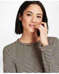 Brooks Brothers - Ruffle-cuff Striped Jersey Long-sleeve T-shirt - Lyst