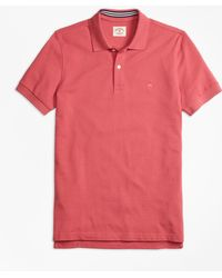Brooks Brothers - Solid Pique Polo Shirt - Lyst