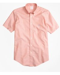 Brooks Brothers - Non-iron Brookscool® Madison Fit Short-sleeve Sport Shirt - Lyst