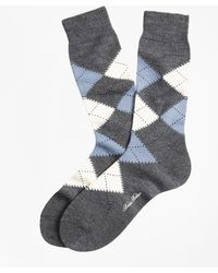 Brooks Brothers | Argyle Crew Socks | Lyst