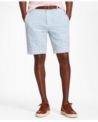 Brooks Brothers - Patchwork Seersucker Bermuda Shorts - Lyst