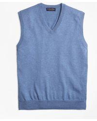 Brooks Brothers - Supima® Cotton V-neck Sweater Vest - Lyst