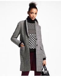 Brooks Brothers - Glen Plaid Wool Cocoon Coat - Lyst